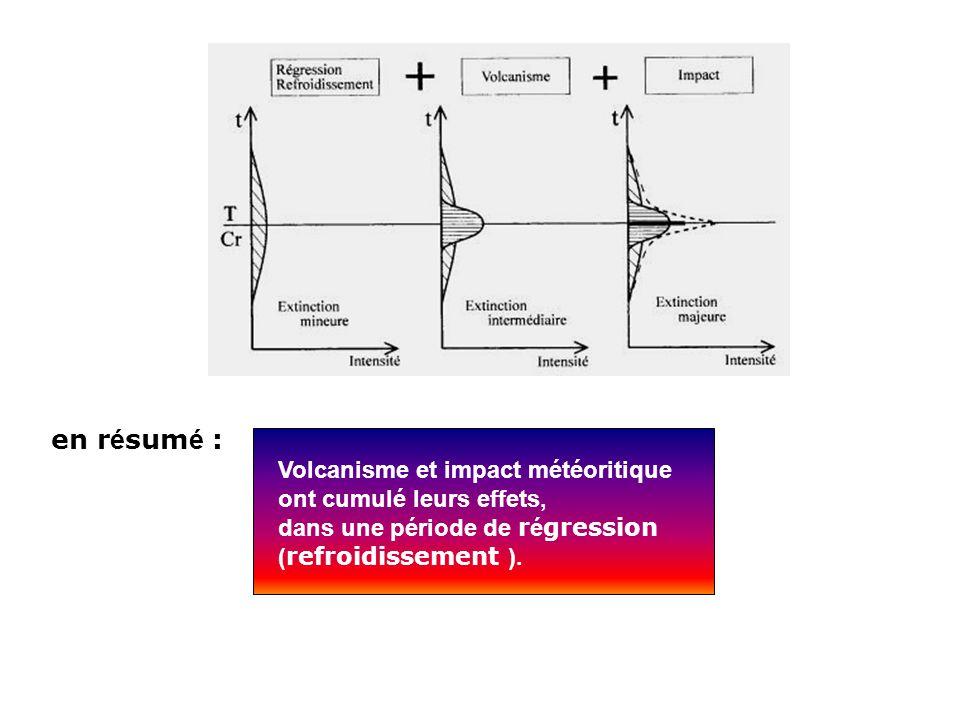 en résumé : Volcanisme et impact météoritique ont cumulé leurs effets,