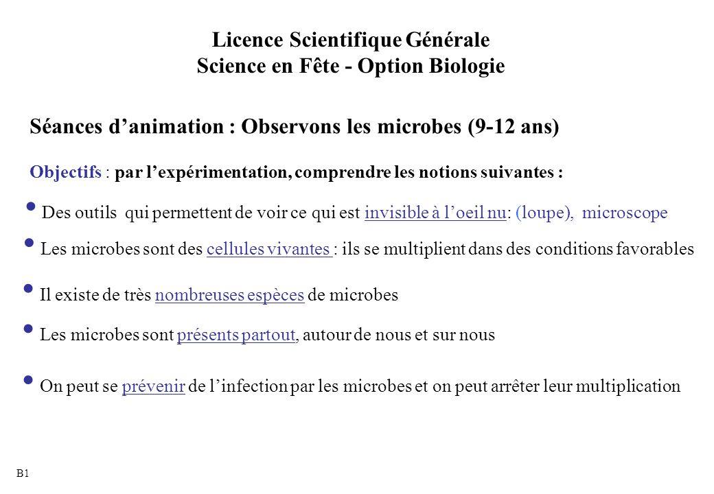 Licence Scientifique Générale Science en Fête - Option Biologie