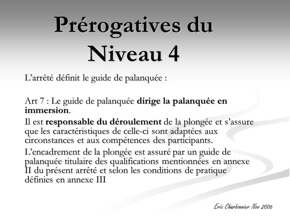 Prérogatives du Niveau 4