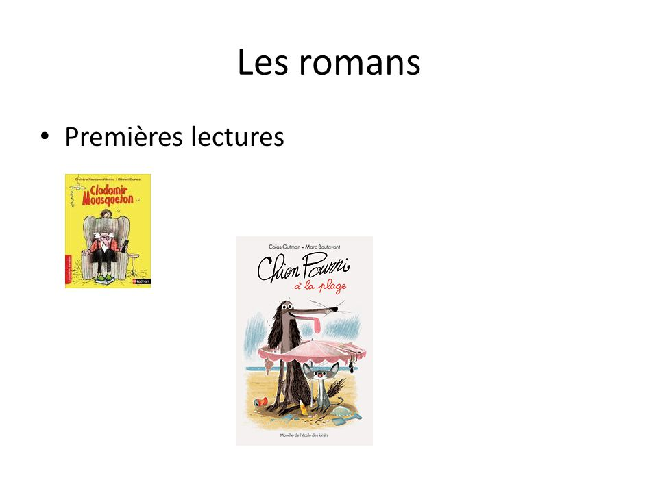 Les romans Premières lectures