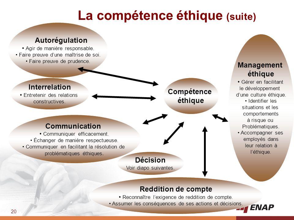 La compétence éthique (suite)