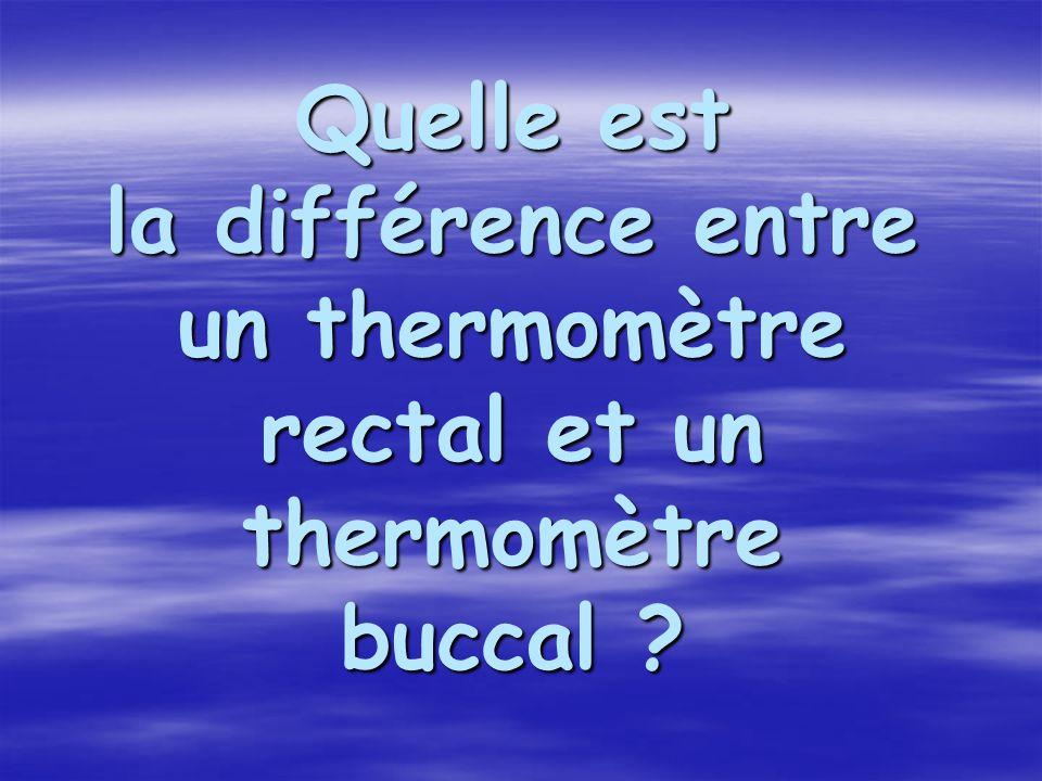 Quelle est la différence entre un thermomètre rectal et un thermomètre buccal