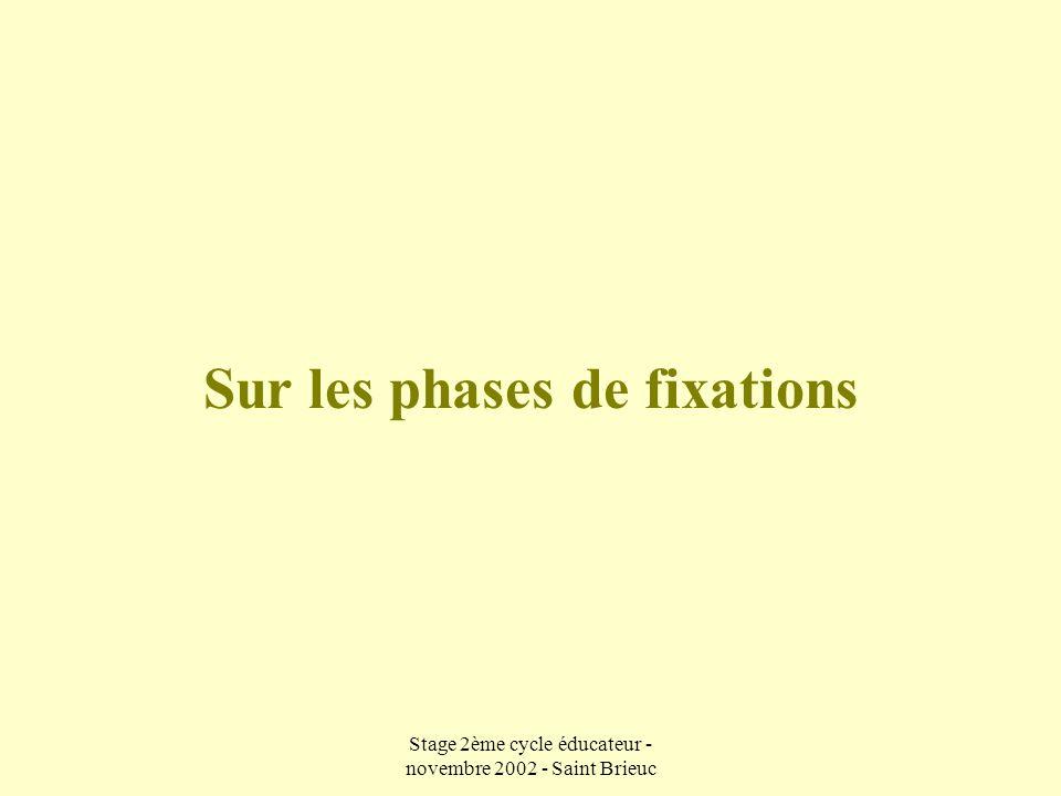 Sur les phases de fixations