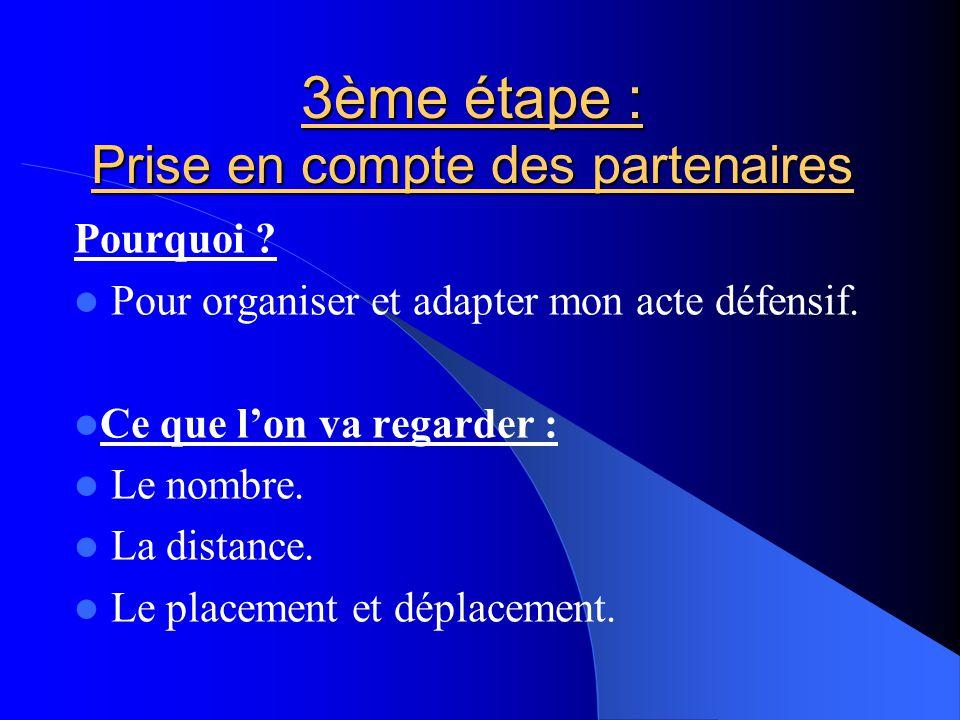 3ème étape : Prise en compte des partenaires