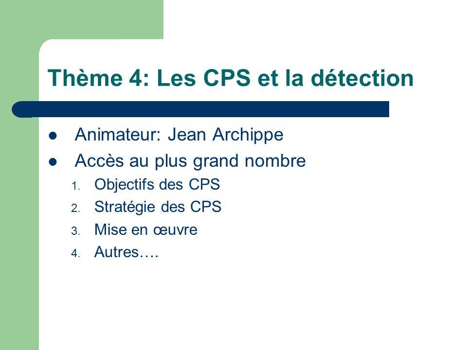 Thème 4: Les CPS et la détection