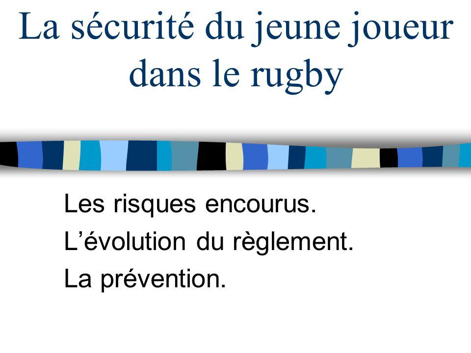La sécurité du jeune joueur dans le rugby