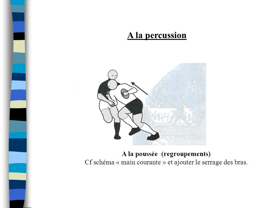 A la percussion A la poussée (regroupements)