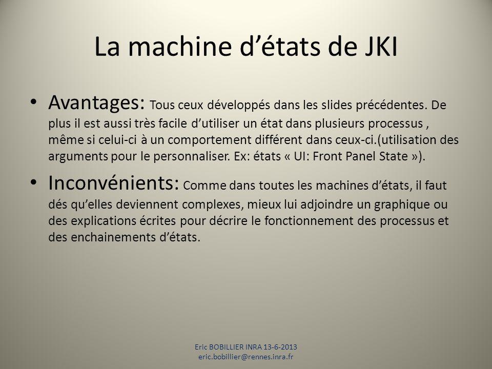 La machine d'états de JKI