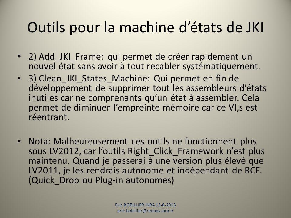 Outils pour la machine d'états de JKI