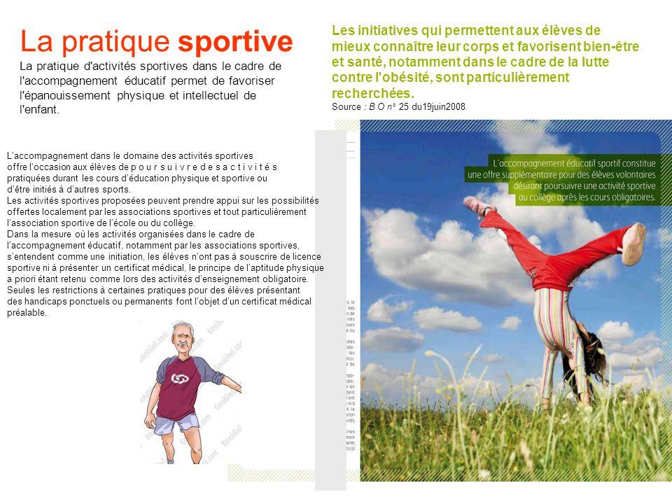 La pratique sportive