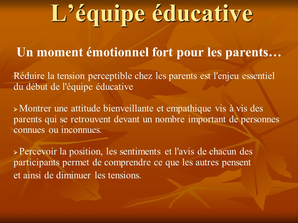 Un moment émotionnel fort pour les parents…
