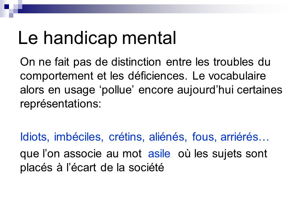 Le handicap mental