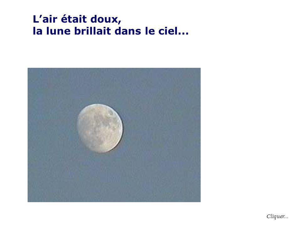 la lune brillait dans le ciel...