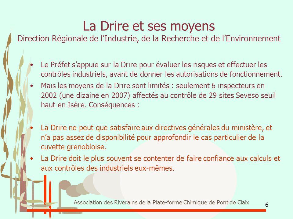 La Drire et ses moyens Direction Régionale de l'Industrie, de la Recherche et de l'Environnement