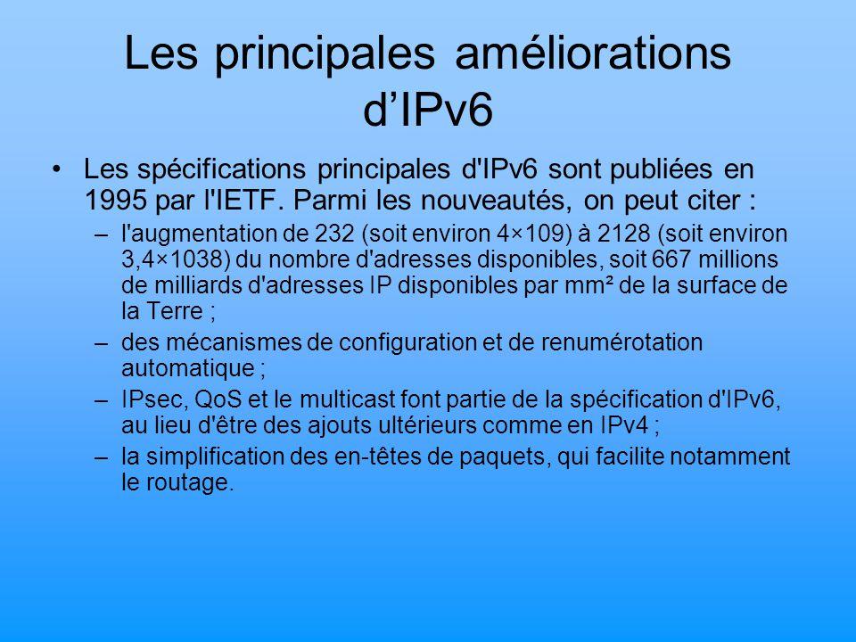 Les principales améliorations d'IPv6