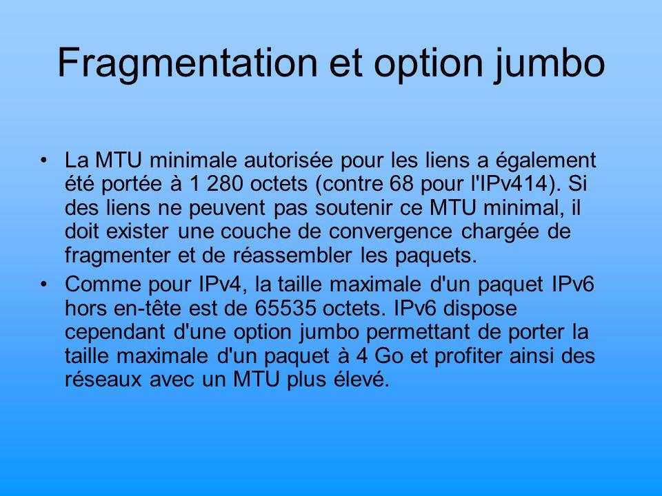 Fragmentation et option jumbo