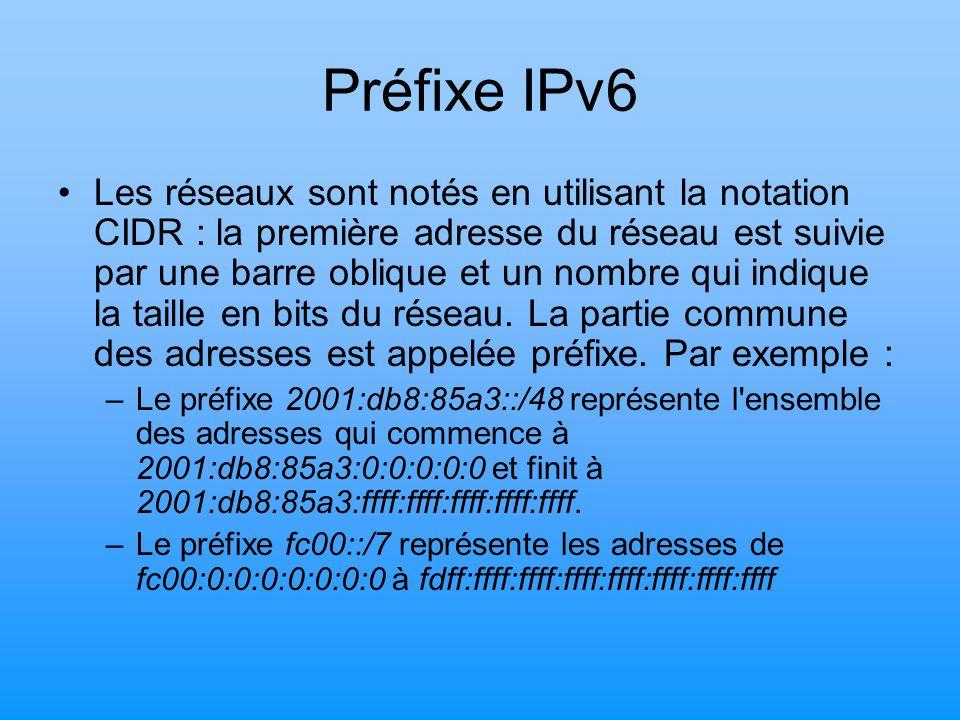 Préfixe IPv6