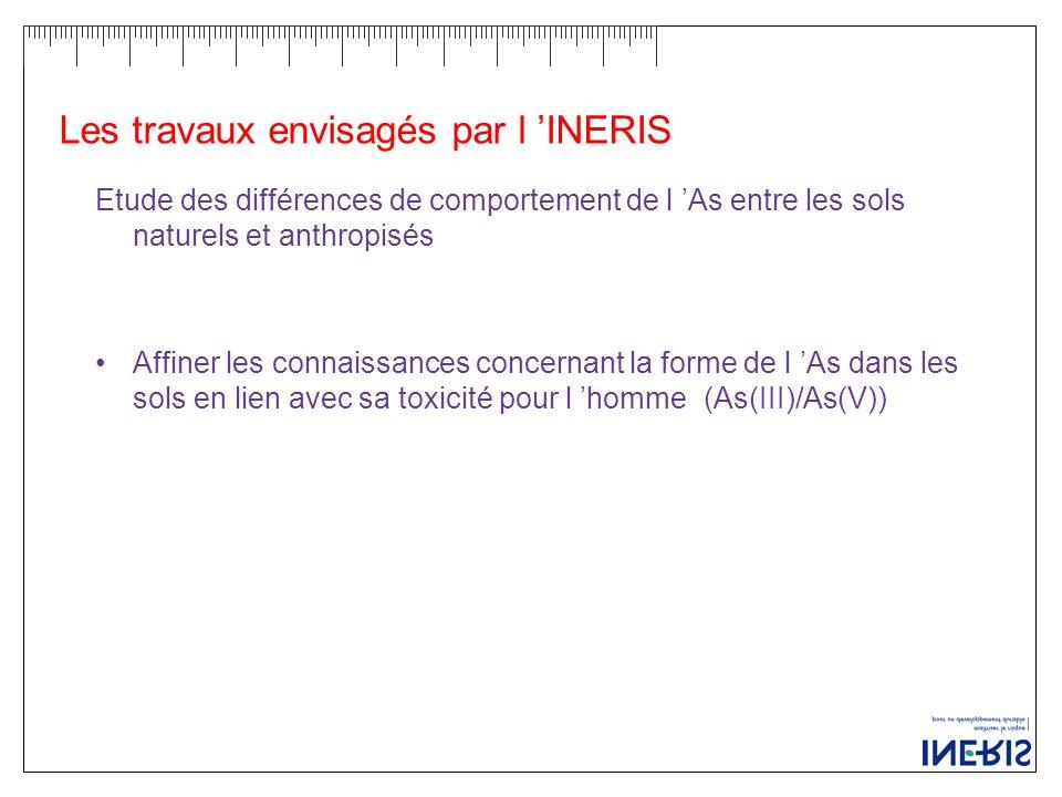 Les travaux envisagés par l 'INERIS