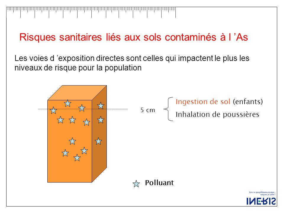 Risques sanitaires liés aux sols contaminés à l 'As