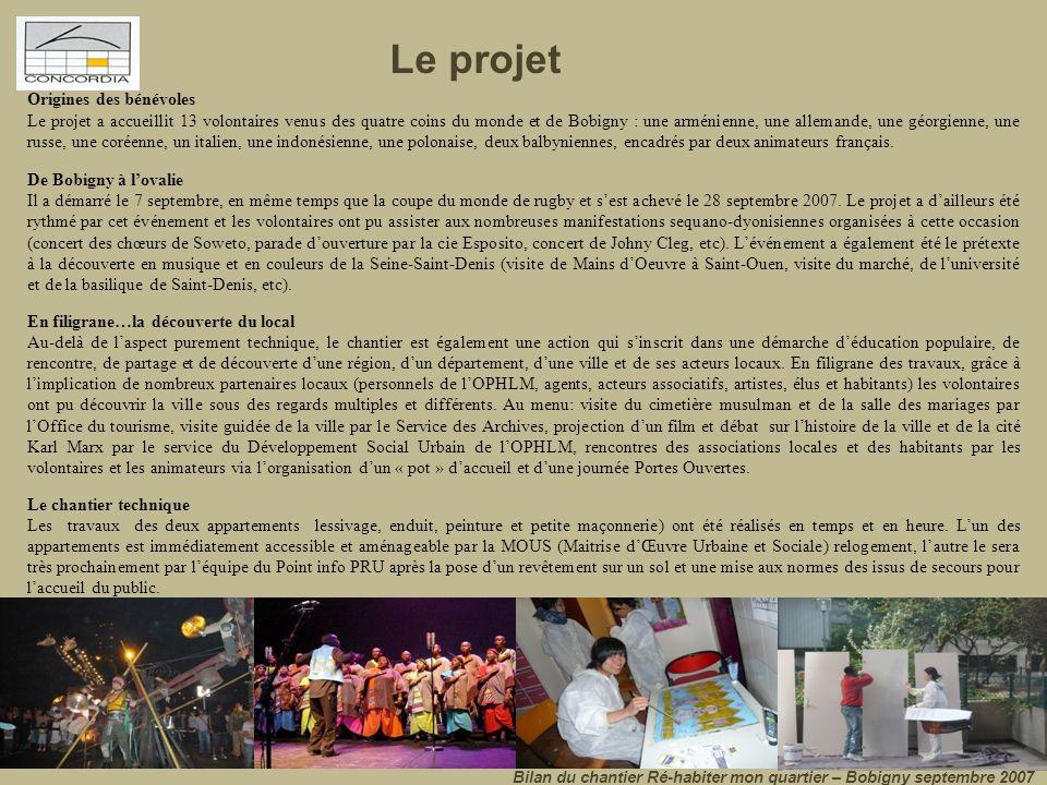 Le projet Origines des bénévoles.