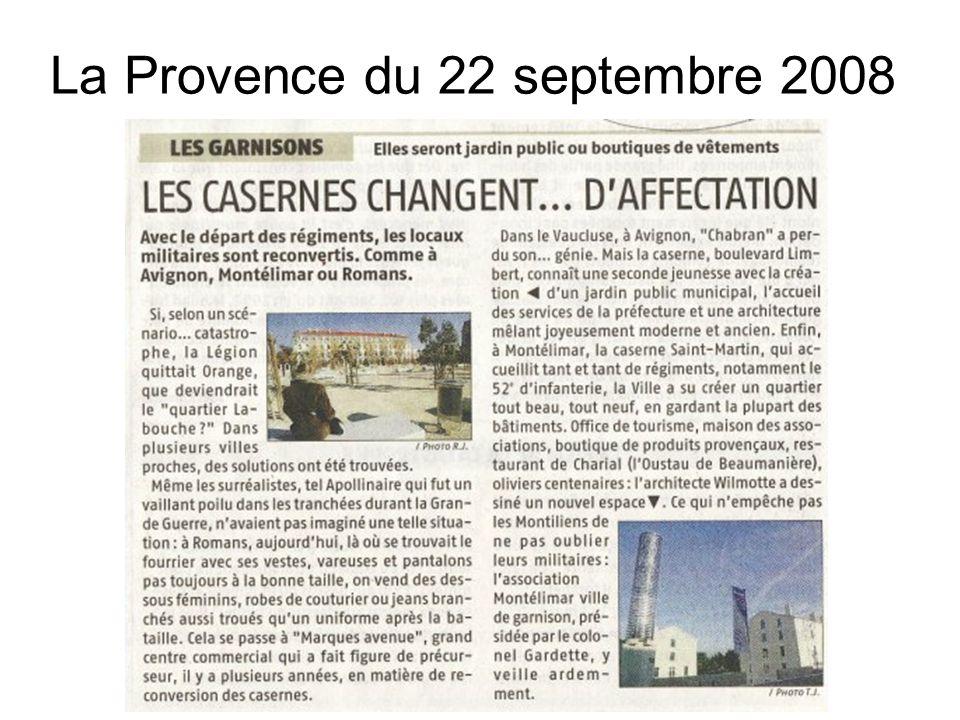 La Provence du 22 septembre 2008