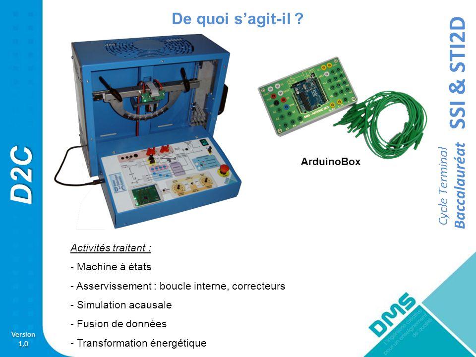 De quoi s'agit-il ArduinoBox Activités traitant : - Machine à états