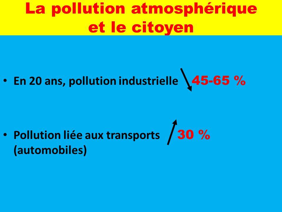 La pollution atmosphérique et le citoyen