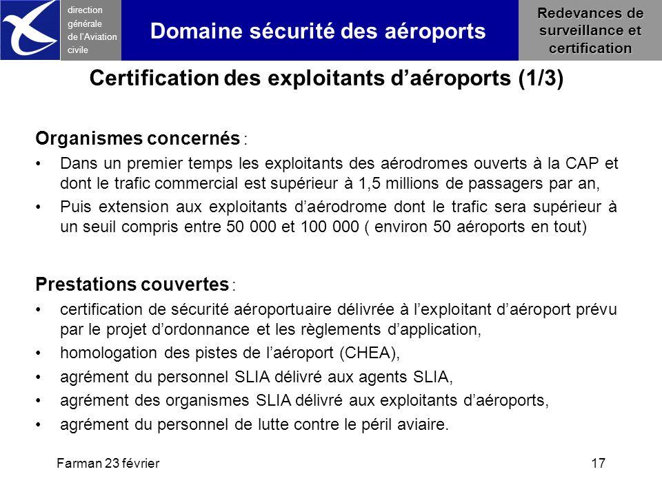 Certification des exploitants d'aéroports (1/3)