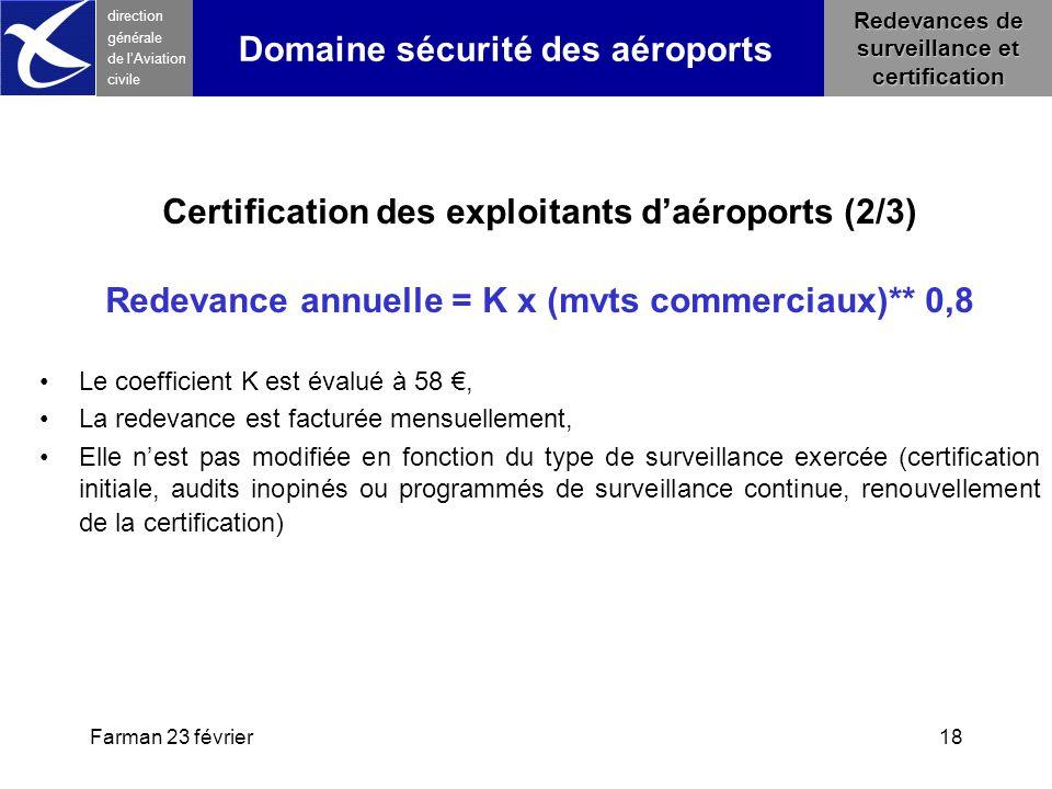 Certification des exploitants d'aéroports (2/3)