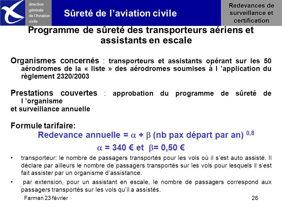 Programme de sûreté des transporteurs aériens et assistants en escale