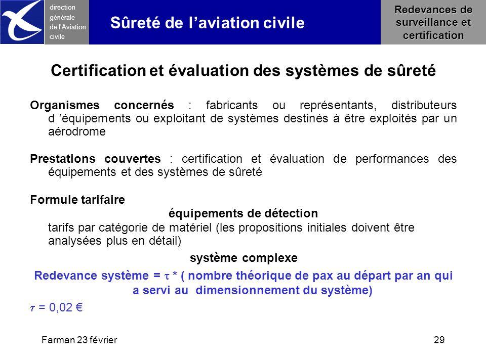 Certification et évaluation des systèmes de sûreté