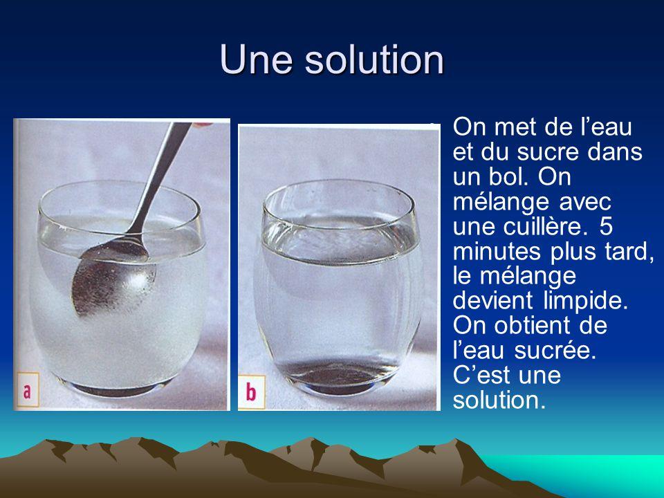 Une solution