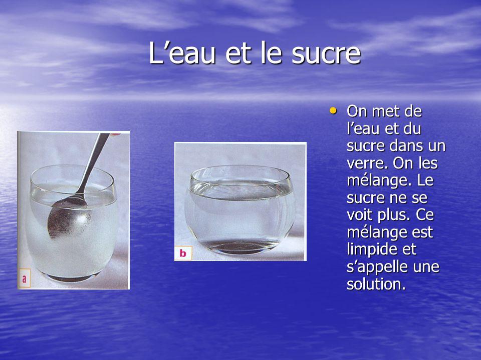 L'eau et le sucre