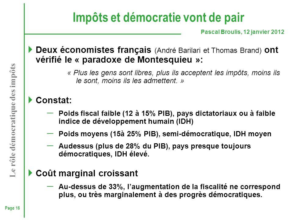 Impôts et démocratie vont de pair