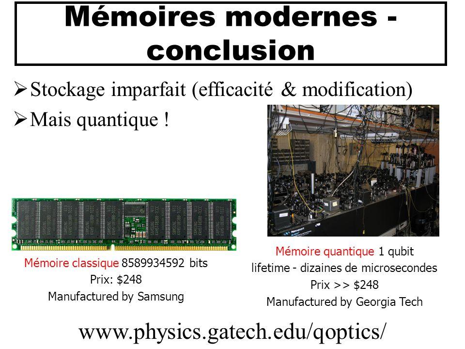 Mémoires modernes - conclusion