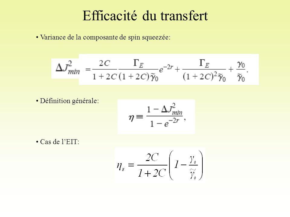 Efficacité du transfert