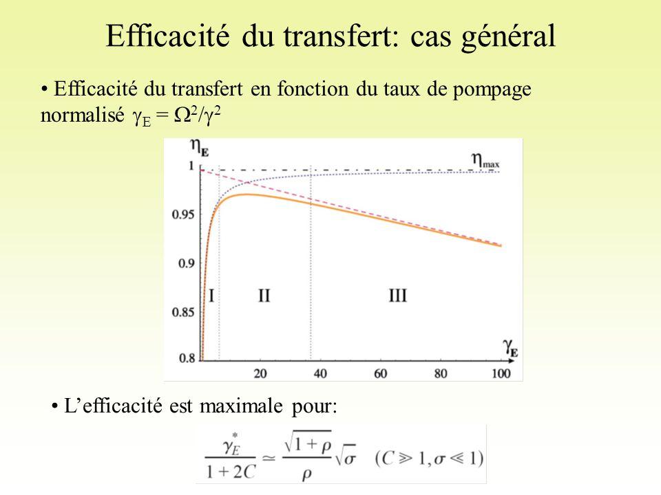 Efficacité du transfert: cas général