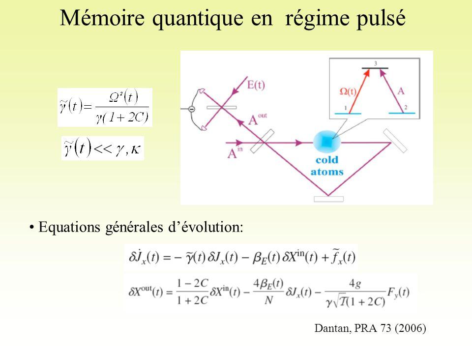 Mémoire quantique en régime pulsé