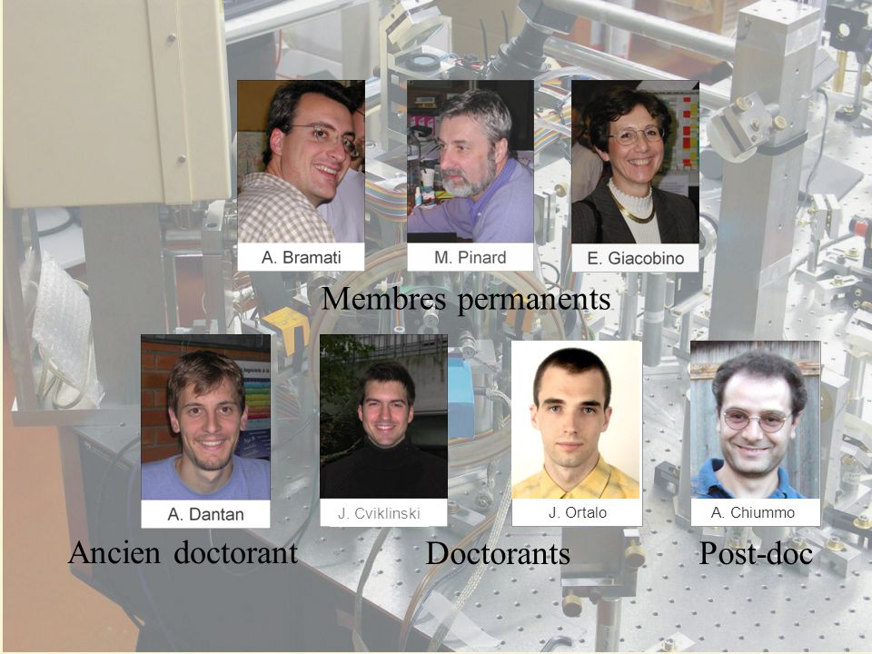 Ancien doctorant Doctorants Post-doc Membres permanents J. Ortalo