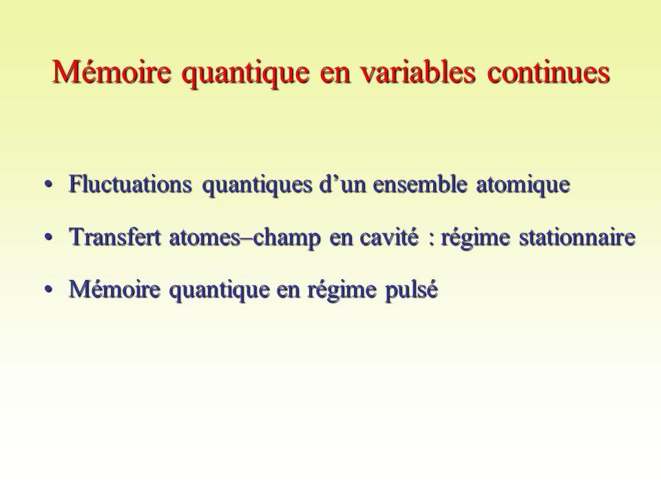 Mémoire quantique en variables continues