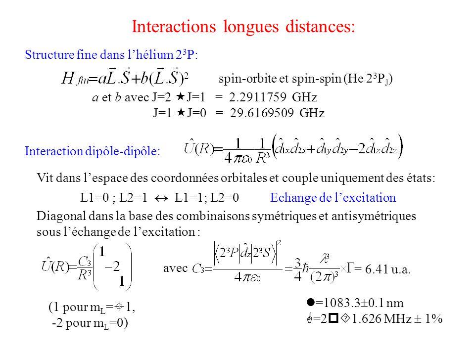 Interactions longues distances: