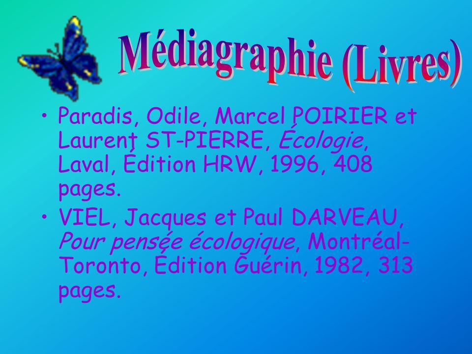 Médiagraphie (Livres)