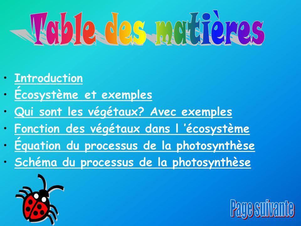 Table des matières Page suivante Introduction Écosystème et exemples