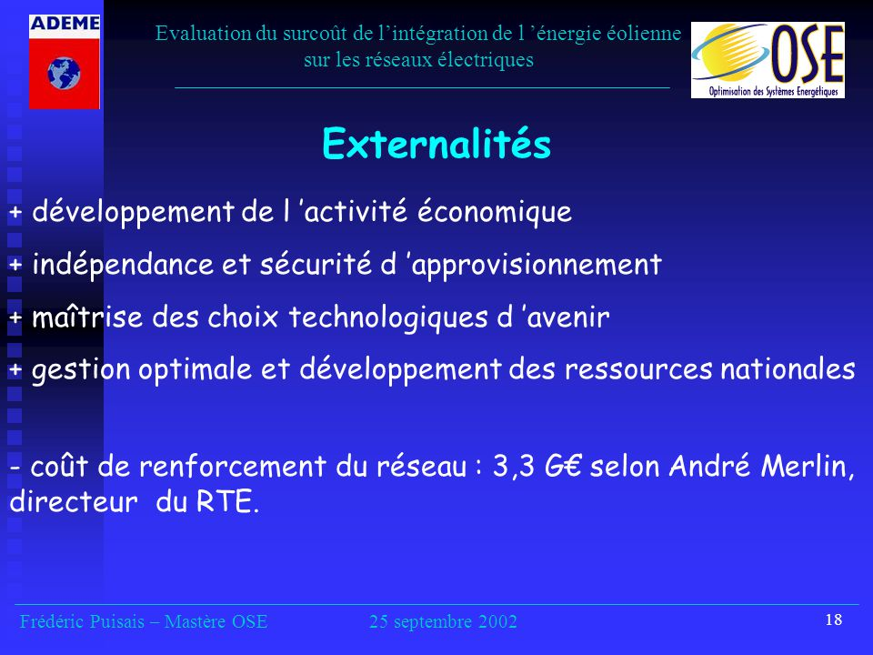 Externalités + développement de l 'activité économique
