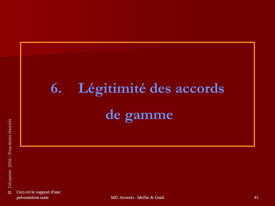 6. Légitimité des accords