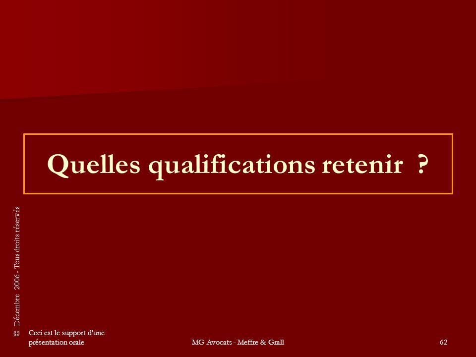 Quelles qualifications retenir