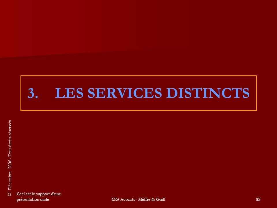 3. LES SERVICES DISTINCTS
