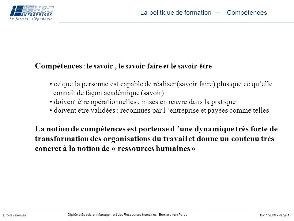 management de la formation