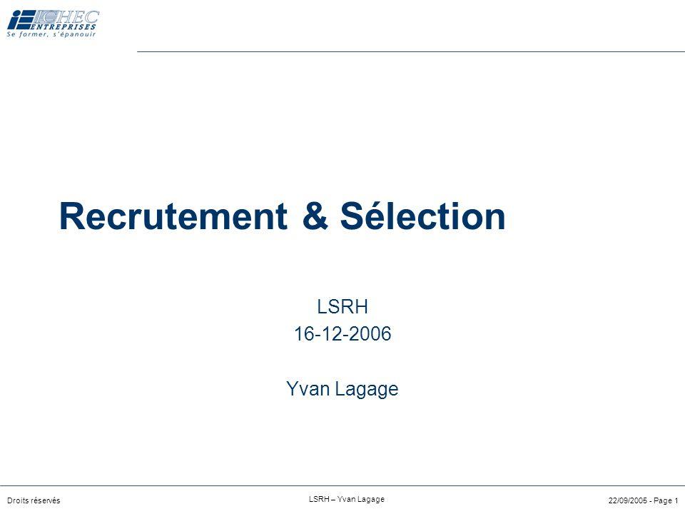 Recrutement & Sélection