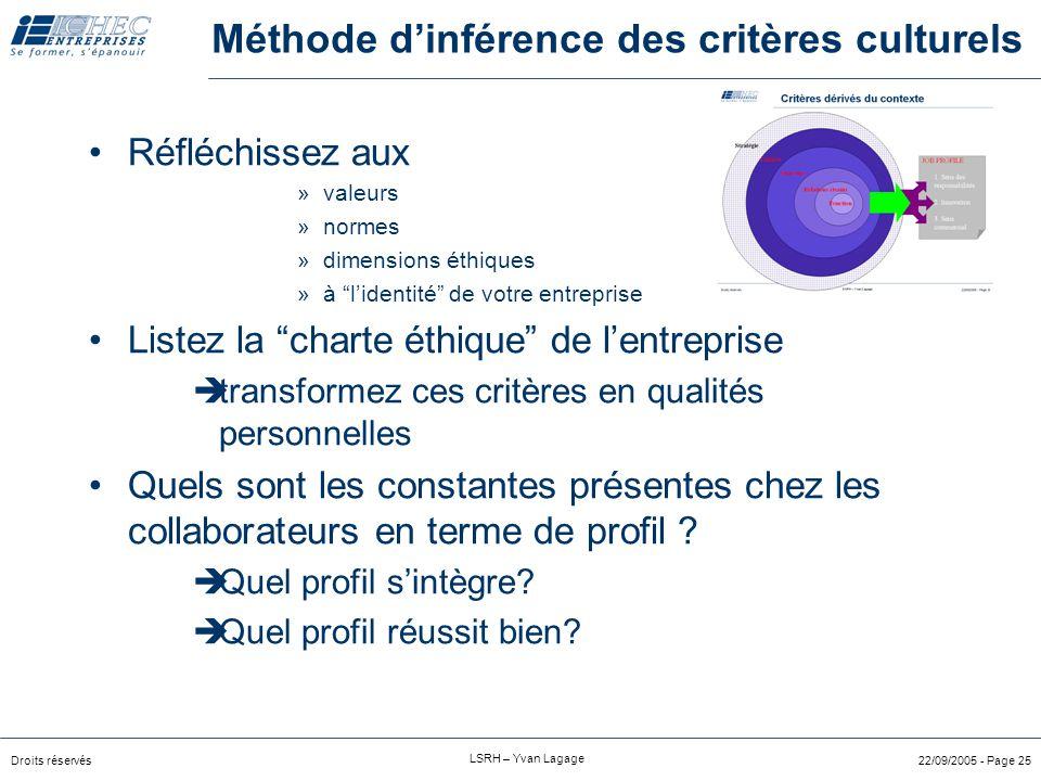 Méthode d'inférence des critères culturels